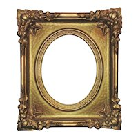 19th c. Ornate Victorian Picture Frame Gilt Wood & Gesso Aesthetic Eastlake Art Nouveau for Painting Photo Portrait
