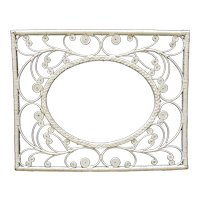 Vintage White Wicker Frame for Picture Portrait Painting Print or Mirror