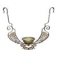 19th c. Hanging Lamp Lower Frame Oil Kerosene Antique Victorian