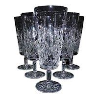 "Tiffany & Co. Lead Crystal Stemware Liquor Glasses ""Sybil"""