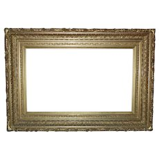 LARGE 19th c. Picture Frame Ornate Gilt Wood & Gesso for Painting or Mirror Antique Victorian