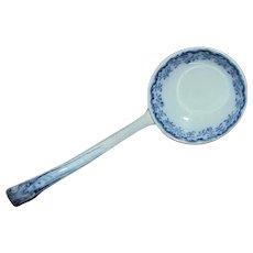 19th c. Gravy Ladle Blue & White Transferware English Antique Flow Blue