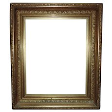 """LARGE 19th c. Picture Frame Gilt Wood & Gesso Antique Victorian for Painting Print Mirror 16 1/4"""" x 20 1/4"""" Rabbet Opening"""