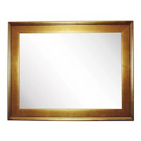 """LARGE Vintage Lemon Gold Picture Frame for Painting Portrait Print or Mirror 24"""" x 18 1/4"""" Opening Rabbet"""