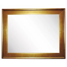 "Vintage Lemon Gold Picture Frame for Painting Portrait Print or Mirror 24"" x 18 1/4"" Opening Rabbet"