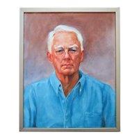 Vintage Portrait Painting Gentleman Man Male Oil on Canvas Signed Stanton