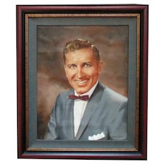 Vintage Portrait Painting Gentleman Man Male Signed Gillardon Mid Century Modern