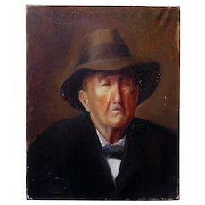 Vintage Portrait Painting Gentleman Man Male