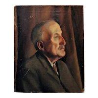 Vintage Portrait Painting Gentleman Man Male