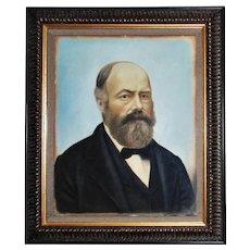 Antique Pastel Portrait of a Gentleman Man