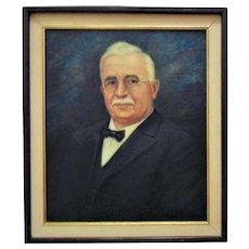 Antique Portrait Painting of a Gentleman Man Oil on Canvas