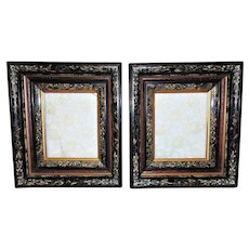 "Pair of Victorian Picture Frames for Photographs Paintings Prints Portraits Aesthetic Eastlake 10 1/8"" x 8 1/8"" Opening"