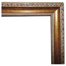 """Vintage Picture Frame Gilt Wood & Gesso for Portrait Painting Print or Mirror 24"""" x 18 1/4"""" Rabbet Opening"""