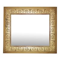 Vintage Art Deco Picture Frame for Portrait Painting Print Mirror Hand Carved Wood Gold Gilt