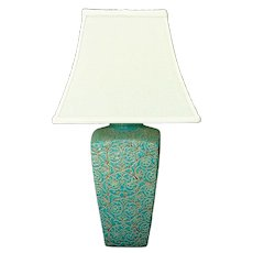 Modern Turquoise Table Lamp