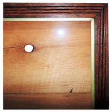 """Antique Oak Wood PIcture Frame Arts & Crafts Mission Bungalow for Painting, Print or Mirror 19 1/4"""" x 24 1/4"""" Rabbet Opening"""