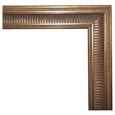 """Vintage Picture Frame for Painting Portrait Print Mirror Gilt Wood & Gesso 24 1/4""""  x 18"""" Rabbet Opening"""