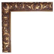"""Antique Picture Frame Victorian Art Nouveau Gilt Wood & Gesso 17 3/4"""" x 13 1/2"""" Opening"""