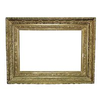 """19th c. Picture Frame Gilt Wood & Gesso Antique Victorian 16 1/4"""" x 24"""" OR  21"""" x 28 3/4"""" Rabbet Opening"""