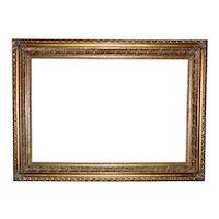 "LARGE Vintage Picture Frame Gilt Wood & Gesso 24"" x 36"" Rabbet Opening"
