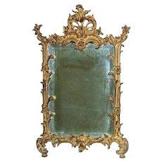 19th c. Gilt Bronze Wall Mirror Antique French Rococo Style