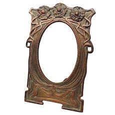 """Antique Picture Photo Frame Art Nouveau Antique Victorian 5 1/2"""" x 4"""" Rabbet Opening"""