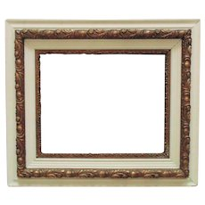 """19th c. Picture Frame Wood & Gesso Antique Victorian 16"""" x 20 1/4"""" Rabbet Opening"""