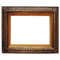 """Vintage Italian Style Gilt Wood Carved Picture Frame 12 1/4"""" x 16"""" or 13 3/4"""" x 17 3/4"""" Rabbet Opening"""