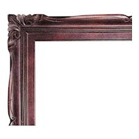 """Vintage Carved Wood Picture Frame for Painting Portrait Print Mirror 26 1/4"""" x 22"""" Rabbet Opening"""