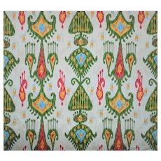 """28 Yards Robert Allen Ikat Cotton Designer Fabric """"Khandar"""""""