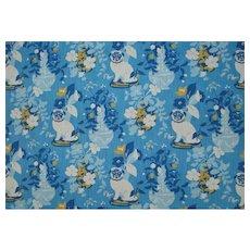 "18 Yards Robert Allen Cotton Designer Fabric in Blue ""Madcap Cottage Manor Born"""