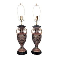 Pair of Stunning Table Lamps Vase / Urn Form