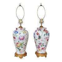 Pair of Table Lamps Chelsea House Floral Flowers