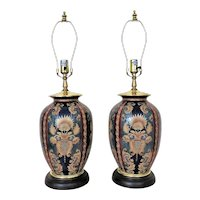 Pair of Vintage Table Lamps Vase Form