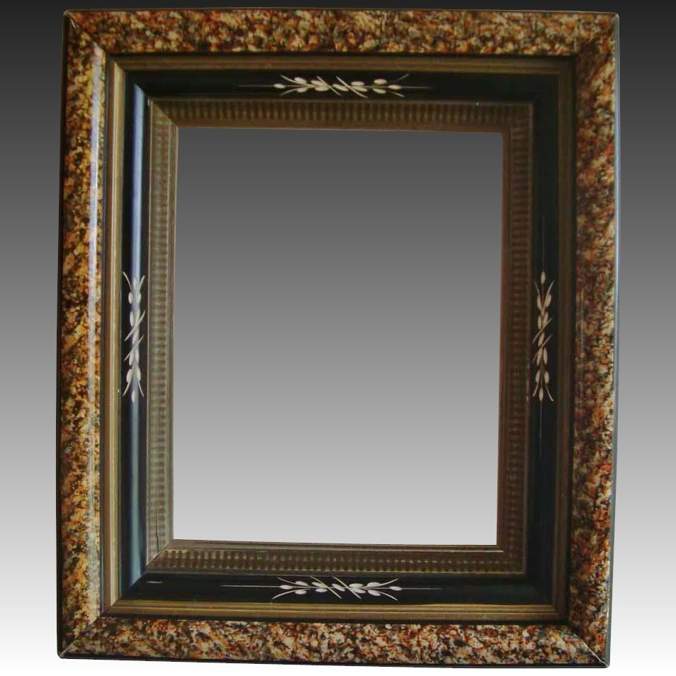 Antique wood picture frame 19c victorian eastlake aesthetic click to expand jeuxipadfo Image collections