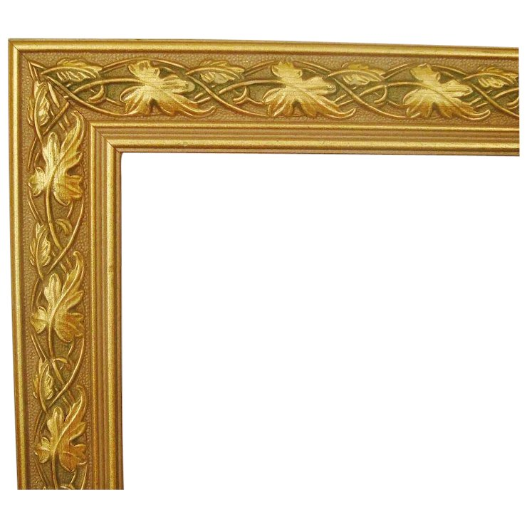 1 of 2 Wood Picture Frames Gold & Green for Paintings Prints ...