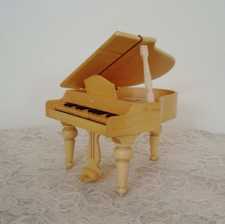 miniature wooden dollhouse furniture. Miniature Wood Dollhouse Furniture Grand Piano Doll House Vintage Wooden I