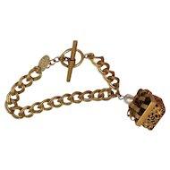 Vintage Miriam Haskell Charm Bracelet