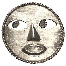 Pauline Rader happy Face Pin Brooch