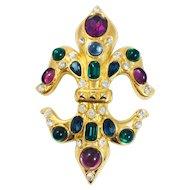 Vintage MVH Michaela Von Habsburg rhinestones necklace enhancer