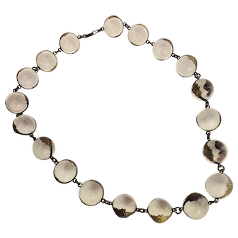 Victorian Pools Of Light Clear Rock Crystal Necklace