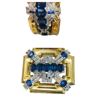 Vintage Barclays Mcclelland Brooch Pin plus Bracelet
