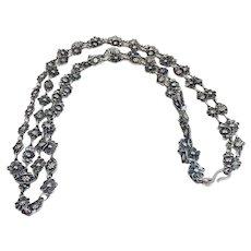 Vintage Modernist Sterling Silver necklace Signed