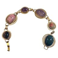 Vintage Gold Filled Scarab Bracelet signed