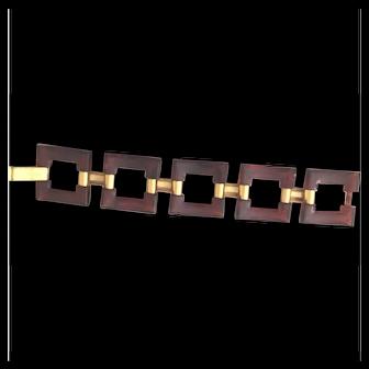 Vintage Crown Trifari Lucite Bracelet