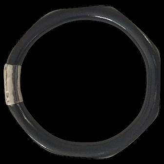 Vintage Genuine Black Coral Bangle Bracelet