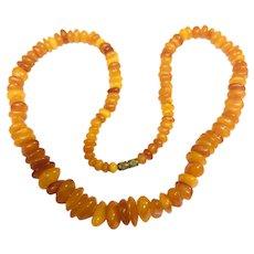 Vintage Genuine Amber Butterscotch Necklace