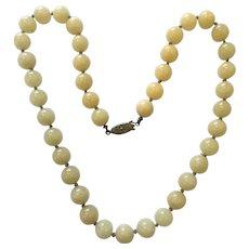 Vintage Genuine Jade Necklace