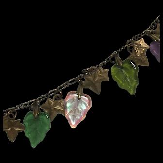 Vintage Glass Works Studio Glass Charms charm Necklace