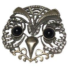 Vintage MMA Sterling Owl Brooch Pin
